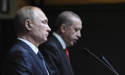 Tổng thống Putin và Tổng thống Erdogan trong một cuộc gặp năm 2014. Ảnh: Reuters