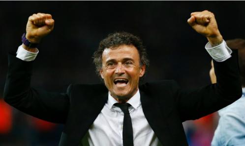 Luis Enrique đoạt năm danh hiệu cùng Barca trong năm 2015. Ảnh: Reuters.