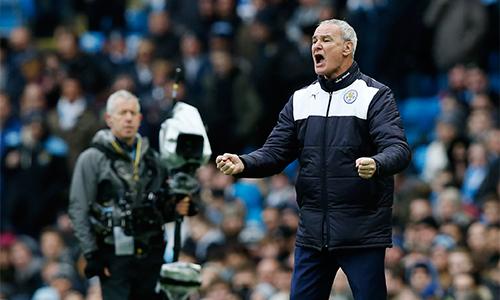 Ranieri đang truyền được cảm hứng và khát khao chiến thắng vào Leicester, biến họ thành tập thể hay nhất tại Ngoại hạng Anh lúc này. Ảnh: Reuters.