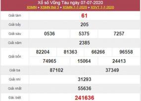 Thống kê XSVT 14/7/2020 chốt KQXS Vũng Tàu thứ 3
