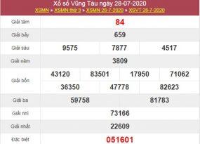Soi cầu KQXS Vũng Tàu 4/8/2020 thứ 3 siêu chuẩn xác